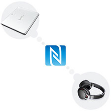 Ecoute par simple contact avec NFC
