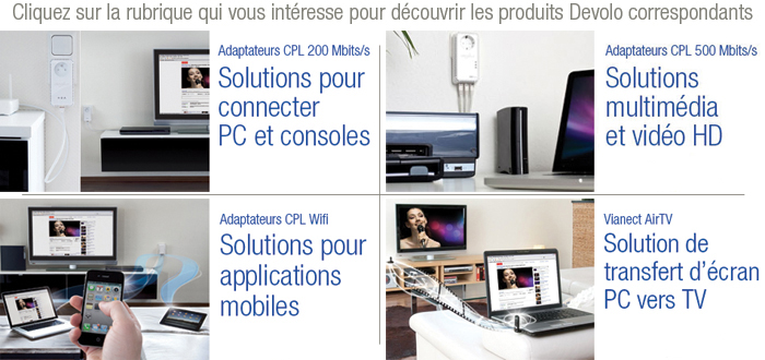 Solutions r�seaux Devolo