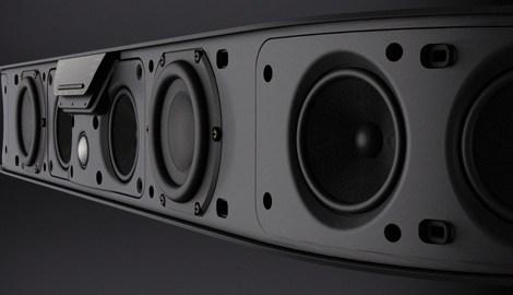 Bowers wilkins panorama 2 barre de son 5 1 noir amazon - Meuble tv samsung avec accroche barre de son ...