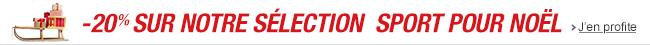 Un Noël sportif : -20% sur une sélection d'articles