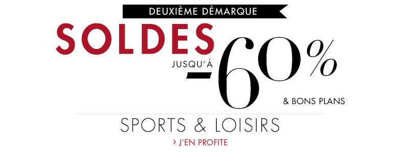 Soldes Sports et Loisirs : jusqu'à -60% et bons plans