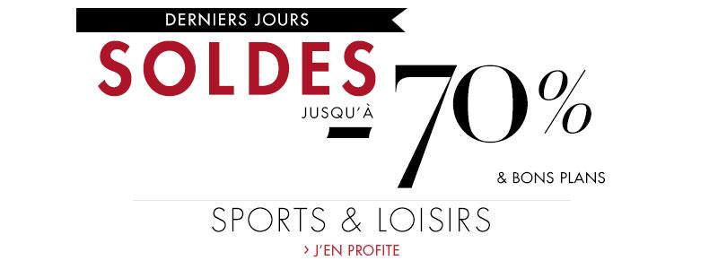 Soldes Sports et Loisirs : dernière démarque jusqu'à -70% et bons plans
