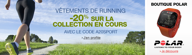 V�tements de running : -20% sur la nouvelle collection
