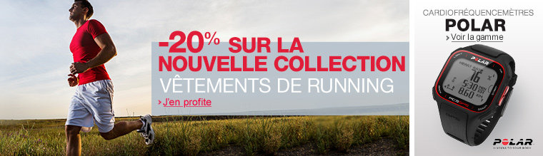 -20% sur la nouvelle collection v�tements de running