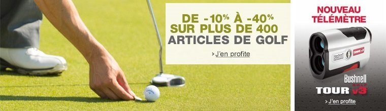 Golf : -10% � -40% sur plus de 1000 articles de golf