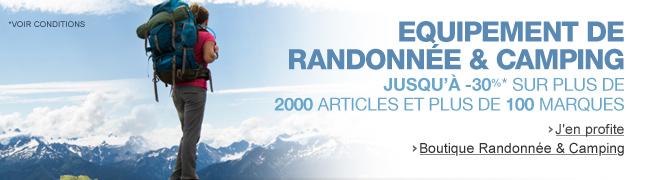 Randonn�e et Camping : jusqu'� -30% de remise sur plus de 1500 articles