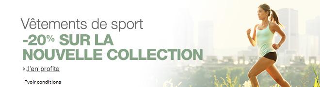 V�tements de sport : -20% sur la collection automne/hiver 2014