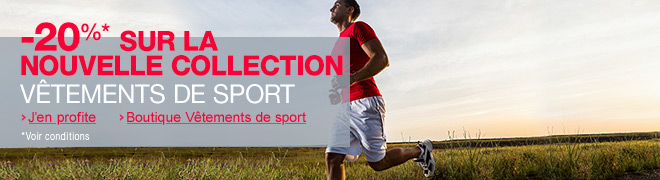 V�tements de sport : -20% sur la nouvelle collection