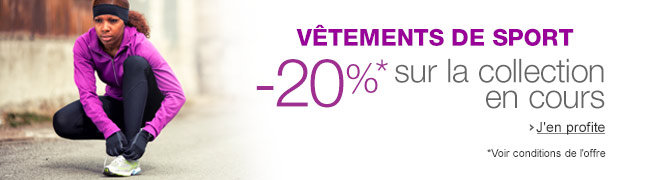 V�tements de sport : -20% sur la collection en cours