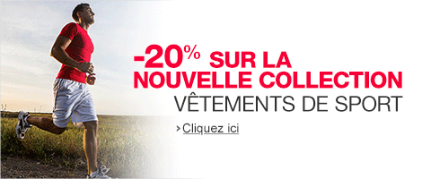 Vêtements de sport : -20% sur la nouvelle collection