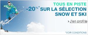 -20% sur la nouvelle collection ski et snowboard
