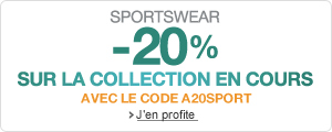 Sportswear : - 20% sur la collection en cours