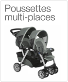 Poussettes multi-places