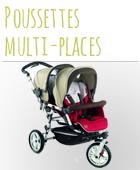 Poussette multi-places bébé pas chère