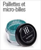 Paillettes et micro-billes pour nail art