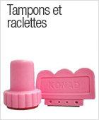 Tampons et raclettes pour nail art