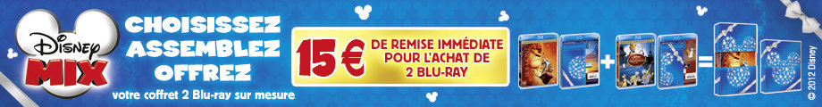2 Blu-ray Disney achet�s = 15� de r�duction
