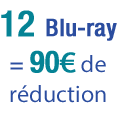 12 Blu-ray achet�s = 90� de r�duction