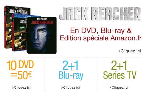 Jack Reacher en DVD, Blu-ray et Edition sp�ciale