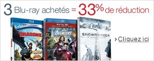 3 Blu-ray achet�s = 33% de r�duction