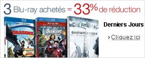 3 Blu-ray achetés = 33% de réduction