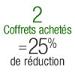 2 Coffrets = 25% de r�duction