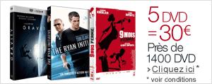 5 DVD = 30 euros
