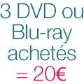 3 DVD Blu-ray = 20€