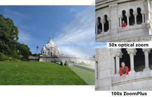 Capturez les sujets distants dans leurs moindres détails à l'aide du zoom optique 50×, extensible à 100× avec ZoomPlus