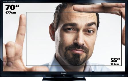sharp lc 70le740e tv lcd 70 177 cm led 3d hd tv 1080p. Black Bedroom Furniture Sets. Home Design Ideas