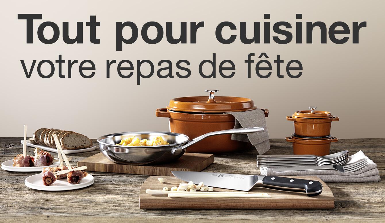 Cuisiner votre repas de fête