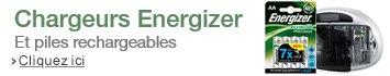 Chargeurs et piles rechargeables Energizer