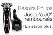 Promotion rasoirs Philips