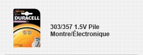 303/357 1.5V Pile Montre/Électronique