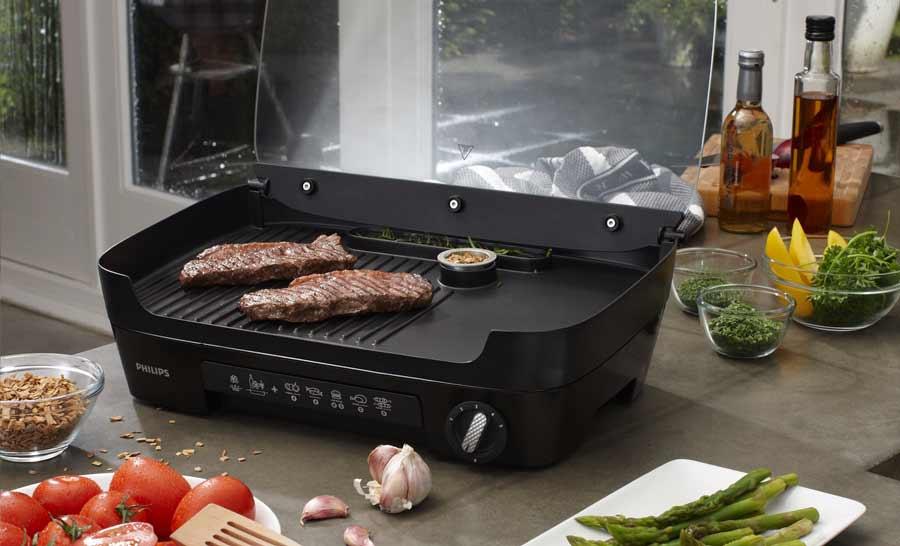 philips hd6360 20 gril avance 1 3 plancha diffuseur feu de. Black Bedroom Furniture Sets. Home Design Ideas