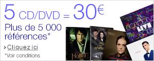 3 CD/DVD pour 15 euros
