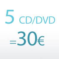 Mixez  5 CD / DVD pour 30€*