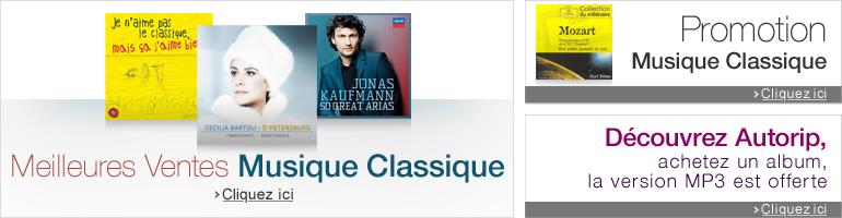 Musique Classique : Découvrez les meilleures ventes et promotions