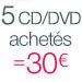 5 CD =30 euros