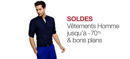 Soldes et bons plans : vêtements homme