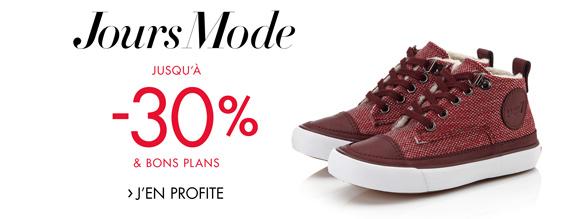 Jours Mode : Jusqu'à -30% sur les chaussures Fille