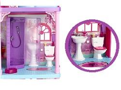 barbie x3551 poup e et mini poup e fabuleuse maison. Black Bedroom Furniture Sets. Home Design Ideas
