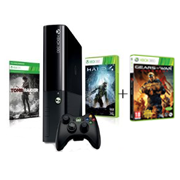 La console Xbox 360 250 Go + Halo 4 + Tomb Raider achetée = 20€ de réduction sur le jeu Gears of War : Judgment