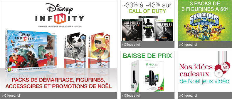 Disney Infinity, Call of Duty, Skylanders, Xbox 360, Noël