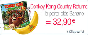 Donkey Kong 3DS + porte-cls banane promotion