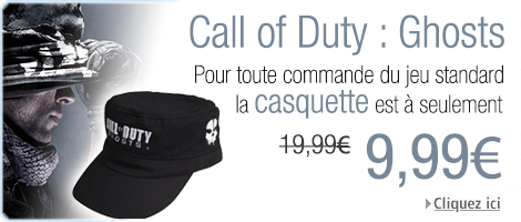 Call of Duty Ghosts offre casquette