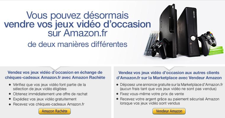 Vendez vos jeux vidéo d'occasion sur Amazon.fr