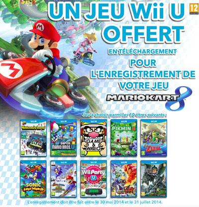 Mario kart 8 enregistr 1 jeu wii u offert - Mario kart wii gratuit ...