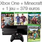 Promotion Xbox One + Minecraft + un jeu = 379 euros