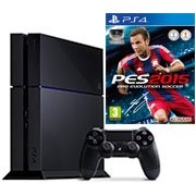 1 console PlayStation 4 + PES 2015 = 425 euros